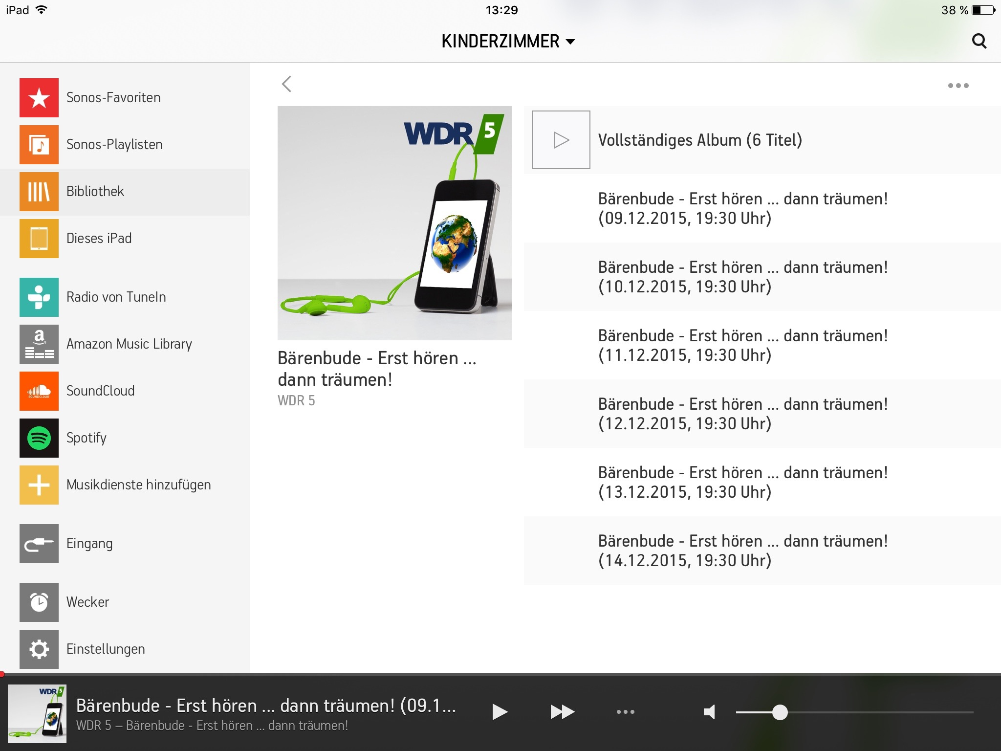 Screenshot SONOS-Screen RadioBeere