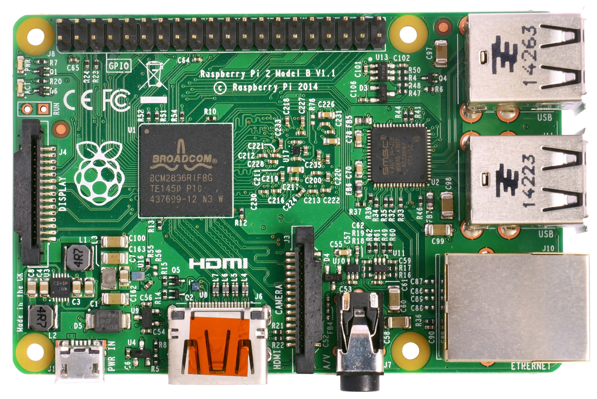 Platine des Raspberry Pi